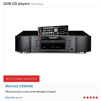 Marantz CD6006 - «Лучший CD-плеер до 500 фунтов 2016 года»